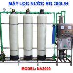 Máy lọc nước RO 200 lít/h cho nước nhiễm vôi NA2000 van cơ