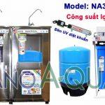 Máy lọc nước RO 30 lít/h có đèn UV NanoAquas NA307TUV có vỏ tủ Inox