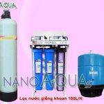 Máy lọc nước RO 100 lít/h cho nước giếng khoan NAK1005