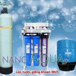 Máy lọc nước RO 50 lít/h dùng cho giếng khoan NAK508UV