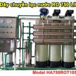 Dây chuyền lọc nước RO 750 Lít van tự động