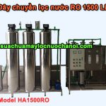 Dây chuyền lọc nước RO 1500 Lít Model HA1500RO