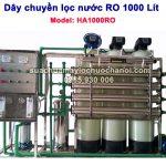 Dây chuyền lọc nước RO 1000 Lít Model HA1000RO