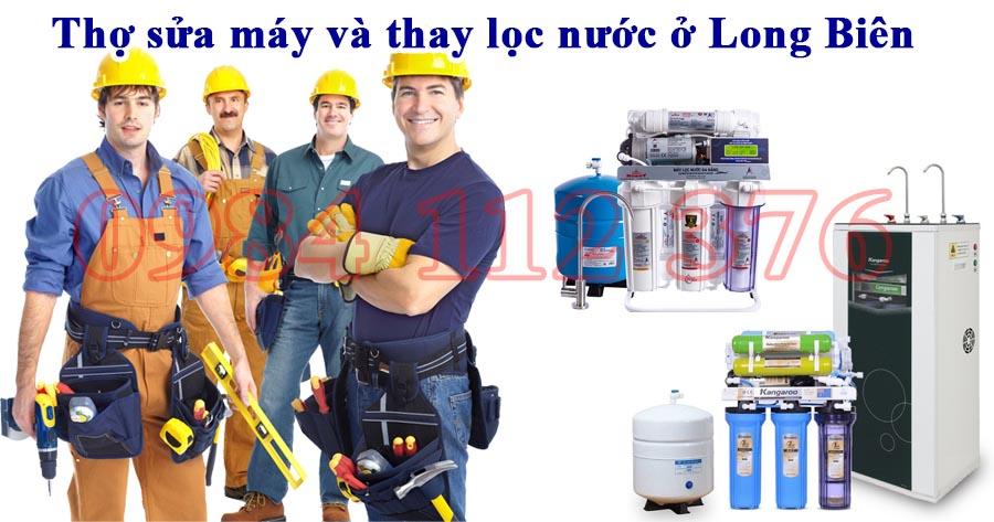 Thợ sửa máy và thay lọc nước ở Long Biên