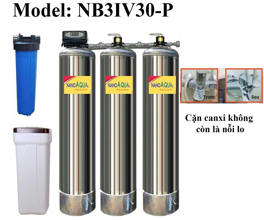Lọc nước tổng 3 cột inox 3000 lít/h
