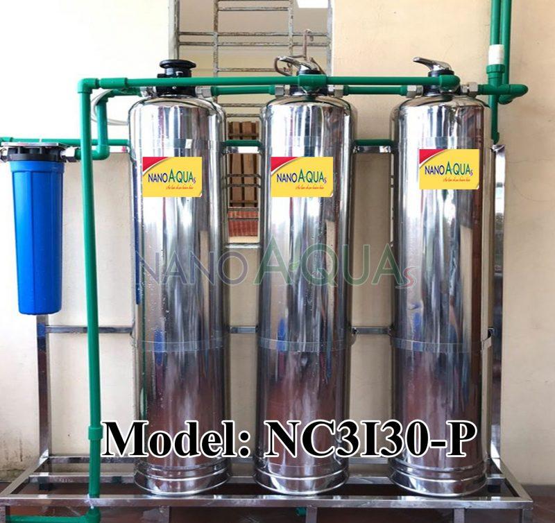Lọc nước 3 cột inox 3000 lít/giờ