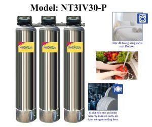 Lọc nước tổng 3 cột inox 3000 lít/giờ
